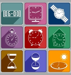 Icons of different watch vector image