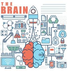 Infographics elements concept of big idea vector