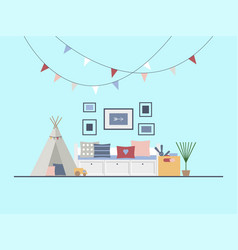 Interior of the children s room in a modern vector