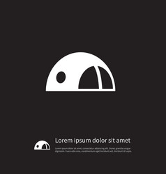 isolated bivvy icon stall element can be vector image