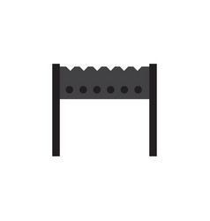 Isolated brazier flat icon barbecue vector