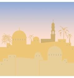 Jerusalem skyline silhouette flat design vector image