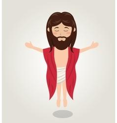 Jesus christ ascension design vector image