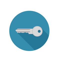 key icon in flat style vector image