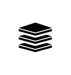 Layers strata flat icon vector