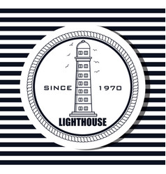 lighthouse sea life icon design vector image