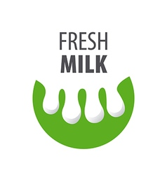 Logo drops of milk in the form of the udder vector
