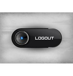 Logout Button vector image
