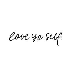 Love yo self modern brush calligraphy vector