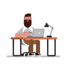 man designer working vector image
