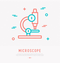 microscope thin line icon vector image