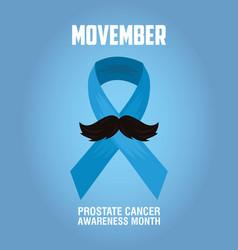 Movember day moustache vector