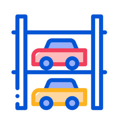 multi-storey parking icon outline vector image
