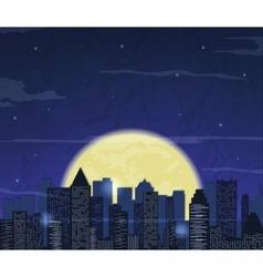 Night city skyline Abstract background Modern vector