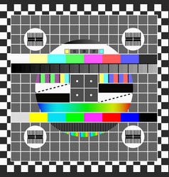 no signal tv screen template television test vector image