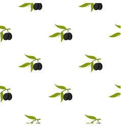 Olive pattern flat vector