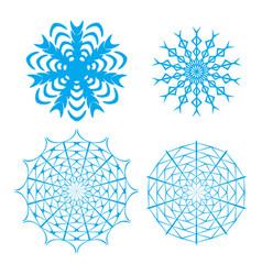 ornate snowflake set vector image