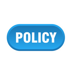 Policy button policy rounded blue sign policy vector
