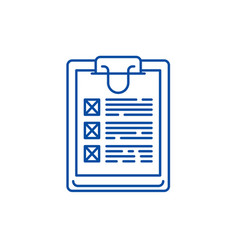 Poll line icon concept poll flat symbol vector