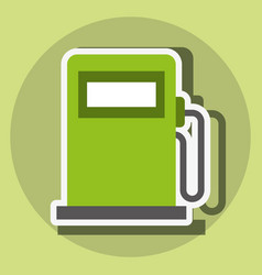 pump station gas transport sticker vector image