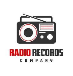 radio entertainment logo design vector image