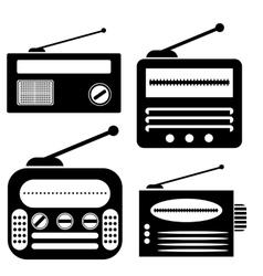 Radio Icons vector