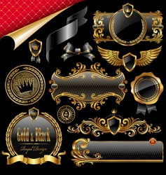 royal design elements vector image vector image