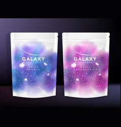 sachet pouch foil bag packaging starry u vector image