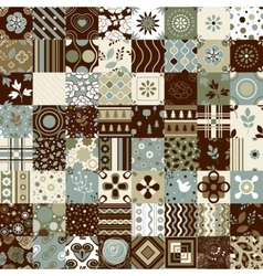 Seamless patchwork pattern ornaments vector