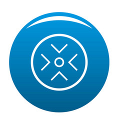 see radar icon blue vector image