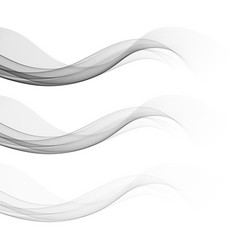 set gray wavy smooth light banners eps10 vector image