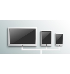 Set of modern digital devices vector