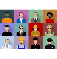 Set of people workers in uniform vector image