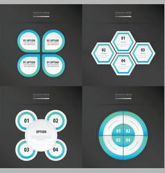 set of presentation design blue color vector image