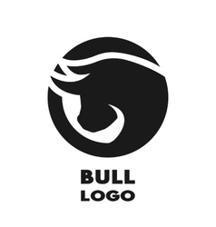 Silhouette of the bulll monochrome logo vector image