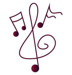 simple a music notes on a white background vector image
