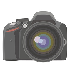 SLR photo camera vector image