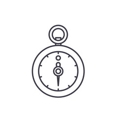 stopwatch line icon concept stopwatch vector image