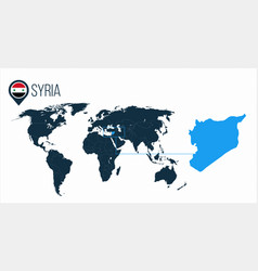Syria location on the world map for infographics vector