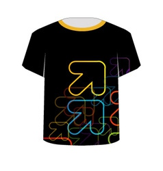 T Shirt Template- fractal arrows vector image