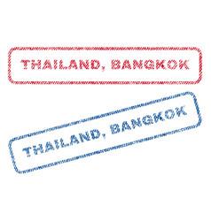 thailand bangkok textile stamps vector image