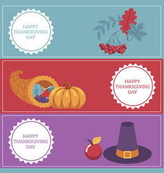 thanksgiving day congratulation horizontal vector image