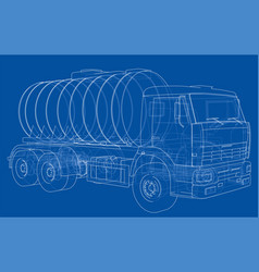 truck with tank concept vector image