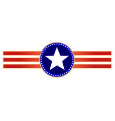 usa flag symbols ribbon decoration vector image