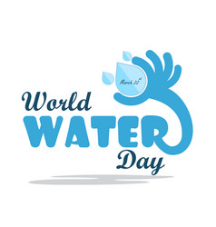 World water day cartoon flat designwater drop vector