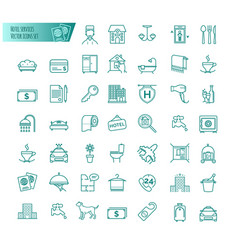 hotel services icons set vector image vector image