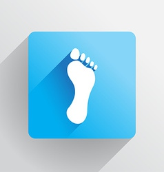 Human footprint vector