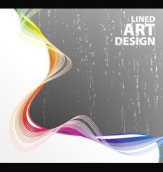 lined art rainbow flow vector image vector image