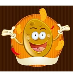 potato chips mascot vector image vector image
