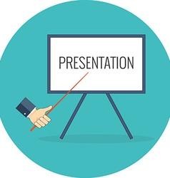 Presentation training seminar concept flat design vector
